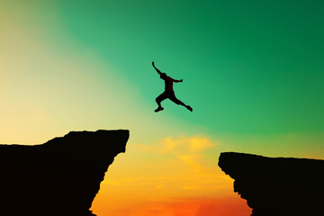 Men jumped from the old obstacles to new achievements.