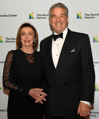 Speaker Nancy Pelosi arrives for Kennedy Center Honors gala at US State Department