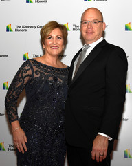 Kennedy Center President Rutter arrives for gala at US State Department