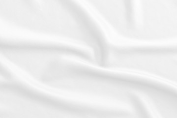 White fabric, cloth soft waves texture background. Soft image.