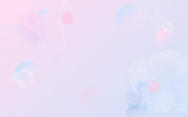 Wall Mural - Pastel color fluid composition and minimal geometric background. abstract flowers. Vector illustration
