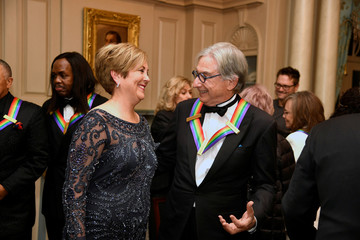 Kennedy Center Honoree Michael Tilson Thomas chats with Center President Rutter at US State Department