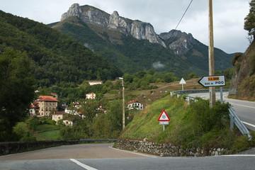 Landscape at village Pido near Espinama in Cantabria,Spain,Europe