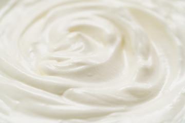 Closeup of yogurt or cream swirl