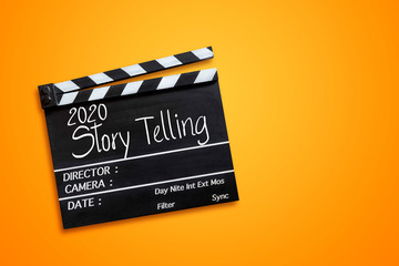 years 2020 story telling text title on film slate Fototapete