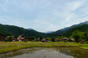 Village shirakawago in Gifu, Japan