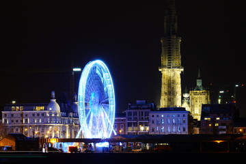 Photo sur Aluminium Antwerp winter van Antwerpen 2019 - 2020 Christmas & New Year