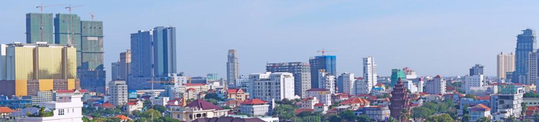 Panorama von Phnom Penh, Kambodscha Fototapete