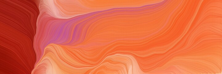 Türaufkleber Koralle abstract waves illustration with coral, firebrick and light coral color