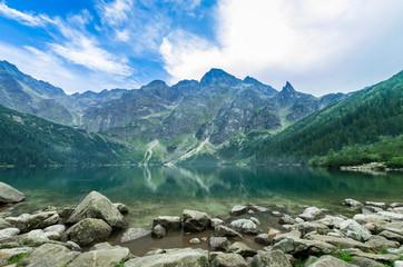 Morskie Oko, Tatra mountains, Poland. Eye of the Sea lake in High Tatras, poland side of the massif