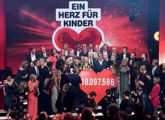 "Charity gala ""Ein Herz fuer Kinder"", a heart for children, in Berlin"