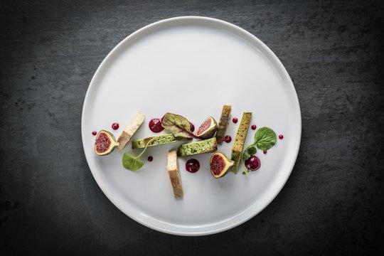 Assiette de foie gras et ses figues