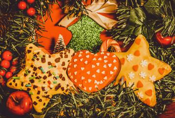 Domowej roboty pierniczki świąteczne Boże Narodzenie