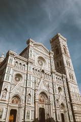 Tuinposter Florence Closeup view of facade of Cattedrale di Santa Maria del Fiore
