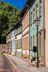 Fotomurales - altes stadtviertel katzenellenbogen in bernau bei berlin, deutschland.