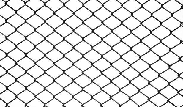 Background of black metal netting mesh