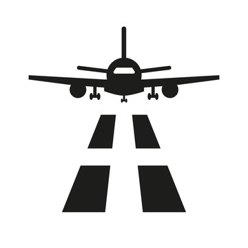 Airport icon on white background.