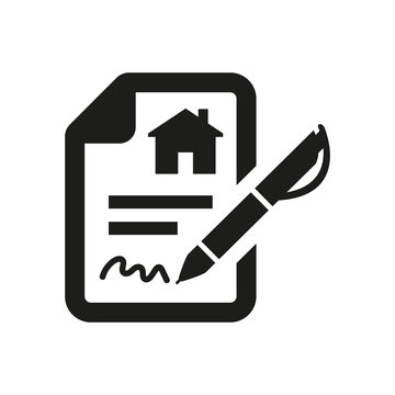 Lease contract icon on white background.