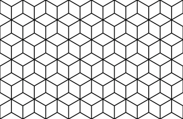 abstract geometric line cube seamless vector background pattern. isometric shape background for Business. Eps10 vector.
