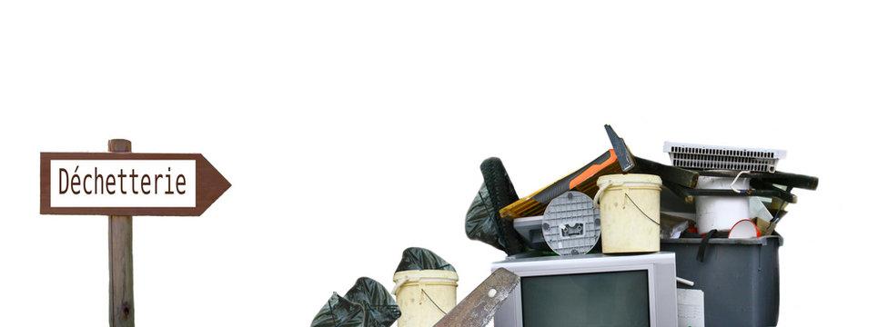 déchetterie , objets ,déchets ,concept de recyclage