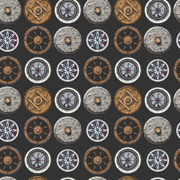 Pattern with  Wheel.