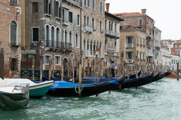 Türaufkleber Gondeln Gondolas in Venice