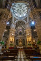 """Interior view in the """"Iglesia del Sagrario"""", church in Granada. Andalusia, Spain."""
