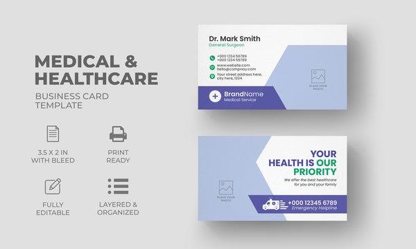 Medical Business Card   Hospital Business Card Template