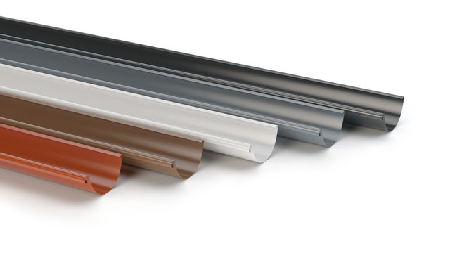 Drainage gutters collection - 3D illustration