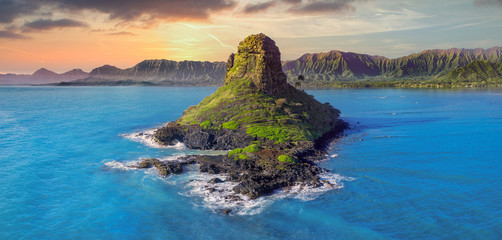 Wall Mural - Hawaii mountains with volcano