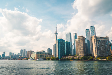 Wall Murals Toronto Cloudy Toronto city skyline