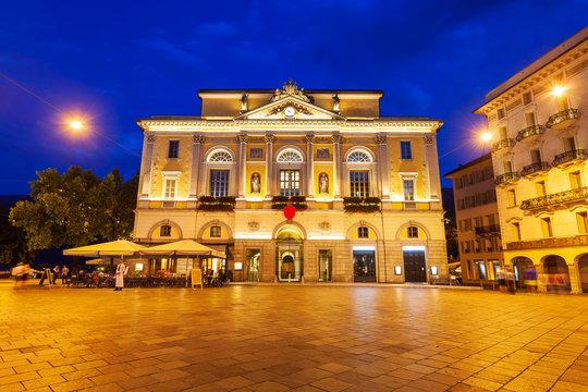 Lugano Town Hall in Switzerland