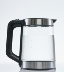 Clean water in transparent kettle