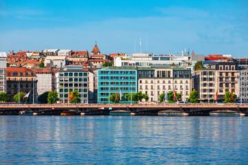 Foto op Canvas Scandinavië Geneva panoramic view in Switzerland