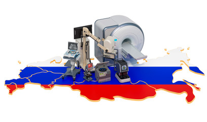 Medical diagnostic and research in Russia, 3D rendering