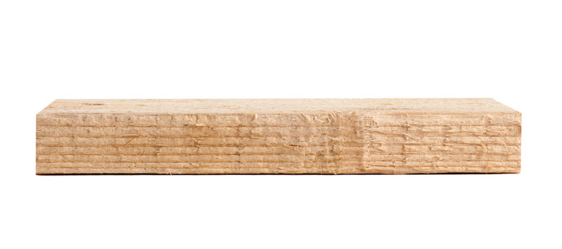 wooden bar isolated on white. wooden blank for the joiner