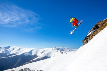Fototapete - incredible ski jump