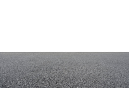 Empty asphalt floor isolated on white background