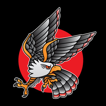 design eagle tattoo old school