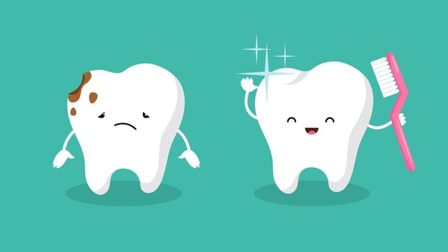 Teeth. Plaque terth, shiny white tooth. Mouth hygiene and toothache. Dental happy and sad vector characters. Illustration dental hygiene tooth