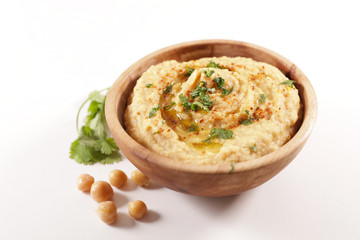 Fototapete - hummus, chickpea with spicy and coriander