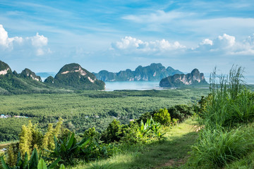 Foto op Canvas Olijf Beautiful scenery of Thailand landscape