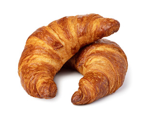 Keuken foto achterwand Bakkerij fresh croissant on white