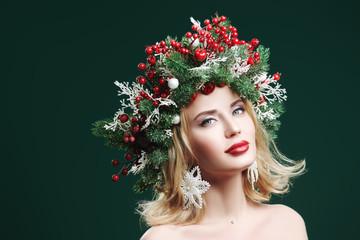 beauty in a Christmas wreath