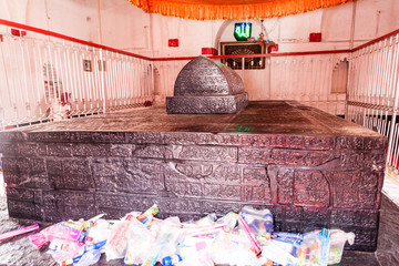 BAGERHAT, BANGLADESH - NOVEMBER 16, 2016: Interior of Khan Jahan Ali tomb in Bagerhat, Bangladesh
