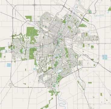 map of the city of Winnipeg, Canada