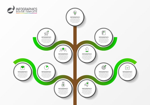 Infographic design template. Creative concept with 11 steps