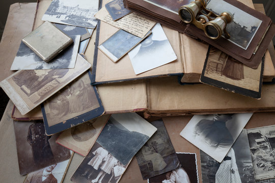 Old photos,books and letters.