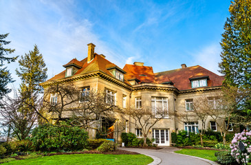 The Pittock Mansion, a historic building in Portland, Oregon Wall mural