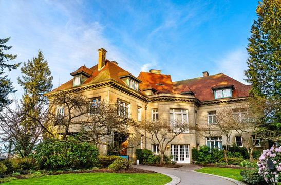 The Pittock Mansion, a historic building in Portland, Oregon